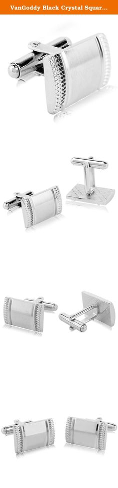 VanGoddy Black Crystal Square Cufflinks for Wedding Party Business. Vangoddy Men's Fashion Shirt Cufflinks | Premium quality stainless steel material. It is a fashionable compliments to your French cuff shirts. Nice lightweight feel works well with French cuff shirts and blouses. Dress up in style with these stylish cufflinks. You are sure to stand out from the crowd. Special gift for Wedding, Father's Day, Party, etc Approximate Dimension of Cufflink: Black Diamond: 0.6 x 0.6 x 1.2 inch...
