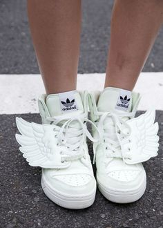 Jeremy Scott for Adidas white wing sneakers- I don't think I would ever get these, but they are cool.