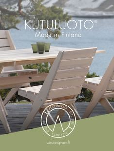 Kutuluoto® Retro - Premium quality wooden outdoor furniture. Picnic Table, Outdoor Furniture, Doors, Retro, Home Decor, Puertas, Neo Traditional, Rustic, Interior Design
