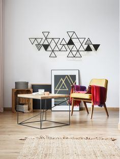 Geometric Wall Art, Abstract Wall Art, Large Wall Art, Metal Wall Art, Interior Decorating, Interior Design, Contemporary Wall Art, Metal Homes, Living Room Art