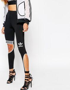 Adidas   adidas Originals Rita Ora 3 Stripe Cut Leggings at ASOS