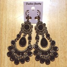 Bohemian Black Earrings Not heavy at all. They hang 3.5 inches long. •not free people, just tagged for views• FREE HANDMADE WIRE WRAP RING WITH EVERY ORDER! Free People Jewelry Earrings