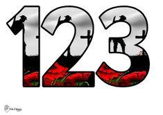 Święto Niepodległości: Cyfry do dekorowania sali przedszkola lub szkoły do pobrania i drukowania za darmo. Gotowe szablony, pomoce dydaktyczne.