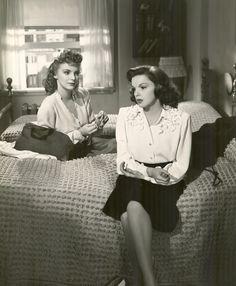 "Alice Brady and Judy Garland in ""THE CLOCK"" (1945)"