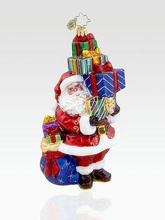 Christopher Radko Tip-Top Claus Glass Ornament