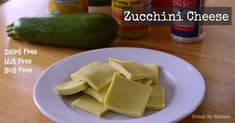 Zucchini Cheese (*make*)  1 cup (about 7 ounces) zucchini, peeled and sliced ¼ cup water 1 tablespoon coconut oil 1 teaspoon lemon juice 1½ tablespoons gelatin (Hayley says you could use ¾ teaspoon agar powder to make this vegan, but I haven't tried it) 1 tablespoon nutritional yeast (optional) ⅓ teaspoon sea salt, or to taste