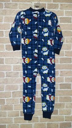 Facebook: ChimuelitosBaby&Kids Pijama micropolar Estampado pingüinos azul