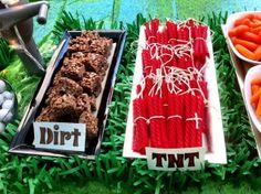 All mindcraft food made by mom creative Mom!