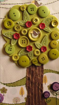 Paper Apple Tree With Buttons