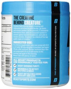 Beast Sports Nutrition Creature, Citrus, 10.57 Ounce   Health Super Store List Price: $49.95 Discount: $23.75 Sale Price: $26.20 Health Super, Sports Nutrition, Amino Acids, Baby Care, Beast, Health Care, Health Fitness, Muscle, Weight Loss