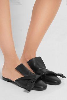 Slight heel Black leather Slip on Made in Italy