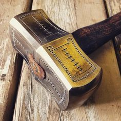 Not Your Average Hammer | Gear Junkie - these are amazing gorgeous tools! I want at least one piece from him!
