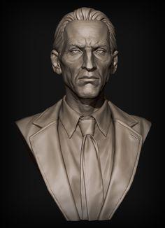 Head Bust, Jared Trulock on ArtStation at https://www.artstation.com/artwork/wOGK9
