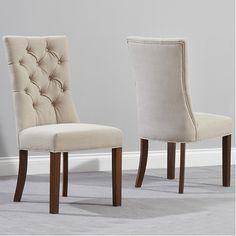 Home Etc Parrakie Solid Oak Upholstered Dining Chair & Reviews | Wayfair UK