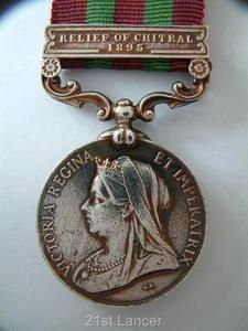 ARMY MILITARY INDIA MEDAL RELIEF OF CHITRAL BAR / CLASP