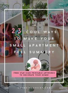 23 cool ways to make your small apartment feel cozy and summery #smallapartmentdecorating #studioapartmentdecorating #modernapartmentdecorating #cozyapartmentdecorating #firstapartmentdecorating Rental House Decorating, Apartment Decorating For Couples, Interior Decorating Tips, Studio Apartment Decorating, Decorating Your Home, New Apartment Gift, Cozy Apartment Decor, Will You Be My Bridesmaid Gifts, Bridesmaid Gifts Unique