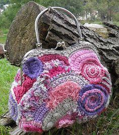 Sivo-ružovo-fialová kabelka