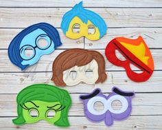 Inside Out Emotions masks by ajoyfulbow on Etsy https://www.etsy.com/listing/238574677/inside-out-emotions-masks
