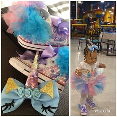 Minnie Mouse Converse, Mickey Shoes, Unicorn Themed Birthday Party, Birthday Party Themes, Birthday Outfits, Teen Life Hacks, Cute Baby Girl Outfits, Glitter Vinyl, Custom Items