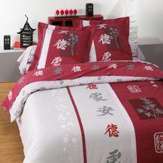 Bedroom chambre parure de lit coton flocon for Housse de couette sears
