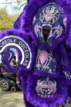 One of the more intricate Mardi Gras Indian costumes.