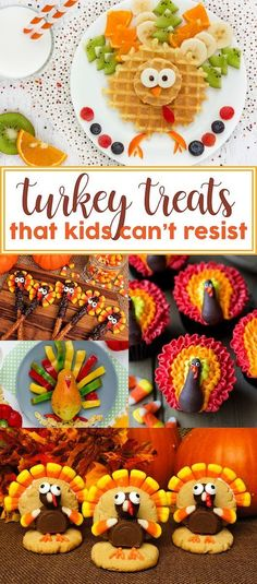 Looking for cute, fun, and easy Thanksgiving desserts? Here are some fabulous Thanksgiving dessert ideas! From turkey cupcakes to to turkey food trays.