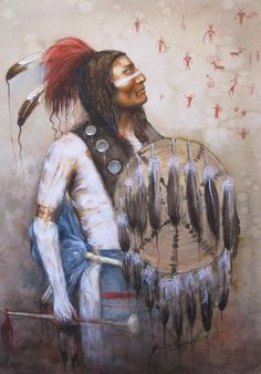 gorgeous portrait native american paintings | To War Painting by Howard Searchfield - Chief Goes To War Fine Art ...