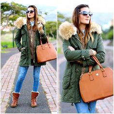 Abrigo de color verde