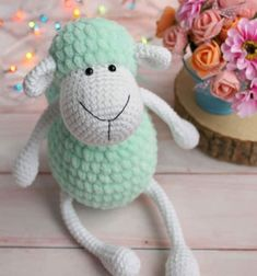 Crochet (amigurumi) sheep toy - free amigurumi pattern // Horgolt (amigurumi) bárány - ingyenes horgolásminta // Mindy - craft tutorial collection // #crafts #DIY #craftTutorial #tutorial
