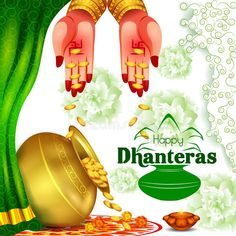 Illustration about Vector illustration of Gold Kalash with decorated diya for Happy Dhanteras Diwali festival holiday celebration of India greeting background. Illustration of event, diwali, festive - 129713391 Happy Dhanteras Hd Images, Happy Dhanteras Wishes, Diwali Status In Hindi, Happy Diwali Status, Hair Transplant In India, Message For Mother, Happy Janmashtami, Name Pictures, Love