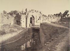 Cashmere Gate, Delhi. Part of a portfolio of photographs taken in 1858 by Major Robert Christopher Tytler and his wife, Harriet, in the aftermath of the Uprising of 1857.