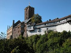 Warburg Castle, Germany, where Martin Luther lived while he translated the Bible into German