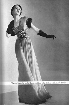 Dress by Traina-Norell, 1948.