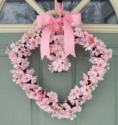Valentine Wreath - Heart Shaped Wreath - Spring Wreath