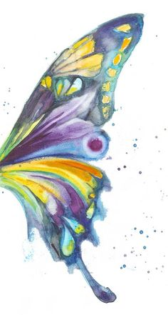Butterfly Wing by AquaColour on Etsy, $20.00