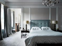 Pretty aqua and blue-grey bedroom. Renovation: an Sydney home receives a revamp that honours its past - Vogue Living Vogue Living, Antique White Usa, Paint Combinations, Best Paint Colors, Paint Colours, Living Room Grey, Cool Paintings, Beautiful Bedrooms, Diy Bedroom Decor