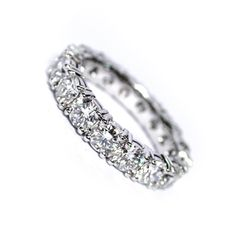 354  18ct White Gold Full Eternity With Round Brilliant Cut Diamonds In Shared Claw Setting