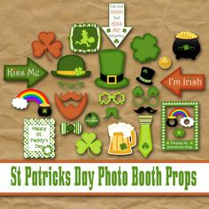 Printable St Patricks Day Photo Booth Props and by OldMarket, $5.00