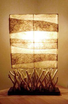 lampada da comodino o tavolo artigianale legno marino driftwood ... - Arredamento Shabby Marino