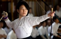 Kyudo - ignore the target, lessons from Zen archery...  if you go through these motions perfectly, the shot will land where it should land
