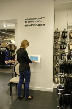 Self-Service Kiosk at New Look Fashion Store