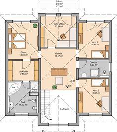 Kern-Haus Stadtvilla Aurelio Grundriss Obergeschoss