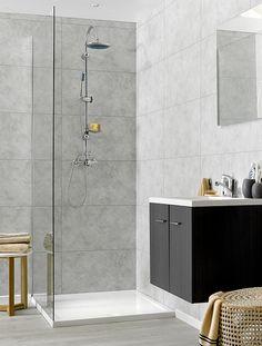 Swish Marbrex Moonstone Tile Effect Sample Wall Panels Bathroom PVC Wet  Wall Cladding Sample Our Wall Cladding Also Know As Bathroom Cladding And Bu2026