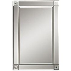 Large Wall Mirror Silver Beveled Framed Rectangle Mirrors Contemporary  Decor