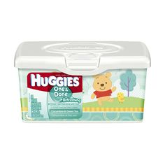 HUGGIES One Done Refreshing Baby Wipes, 64ct Tub ($2) ❤ liked on Polyvore featuring baby and baby stuff