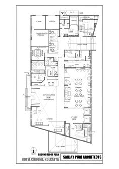 Image 7 of 10 from gallery of Chrome Hotel / Sanjay Puri Architects. Ground floor plan