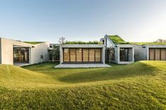 Stunning home in India blends into the earth with segmented green roofs | Inhabitat - Green Design, Innovation, Architecture, Green Building