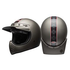 Shop for Bell Moto 3 Helmet - Independent Matte Titanium. A modern and updated version of the classic off-road motorcycle helmet from Bell. Mens Motorcycle Helmets, Scrambler Motorcycle, Motorcycle Outfit, Riding Helmets, Casque Bell, Bell Moto 3, Helmets For Sale, Triumph Bikes, Motorcycles