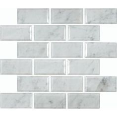 $10.97 M. S. International Inc. Greecian White 12 in. x 12 in. Polished Beveled Marble Mesh-Mounted Mosaic Floor and Wall Tile-GRE-2X4PB at The Home Depot