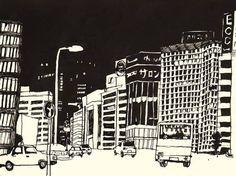 Nightscape. Hazuki Miyaha. Via DADA: Power To The Artists sur Facebook
